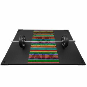 ATX Weight Lifting Platform Skull Wood Colorful