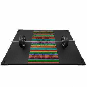 ATX Weight Lifting Platform Skull Wood Colorful