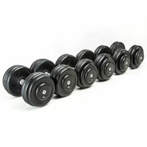 CHD-Kompletthantelsätze - Gummi - 2,5 kg Steigung