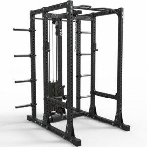 ATX® Power Rack 750 Storage Set-280 mit Latzugstation Steckgewichte