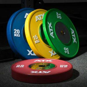 ATX® HQ-Rubber Bumper Plates – COLOR – Hantelscheiben – farbig