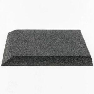 GYMFLOOR® – GRANULAT SCHUTZPLATTEN 500 X 500 X 30 MM – Fallschutzplatte – 30 mm Stärke – Eckplatte