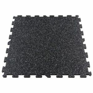 Gymfloor® Puzzleplatte 956 x 956 x 10 mm - schwarz mit 10% grauen Granulaten