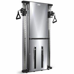 ATX® Duale Wandzugstation -Mirror- mit 2 x 60 kg Steckgewichten