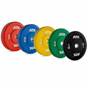VORTEILSPAKET! 150 KG ATX® COLOR FULL RUBBER BUMPER PLATES